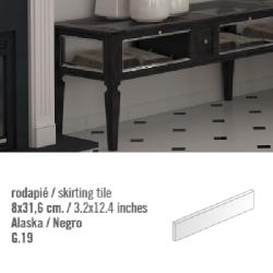 Plinthe intérieur Blanc Alaska 8x31.6 cm - 10.11mL
