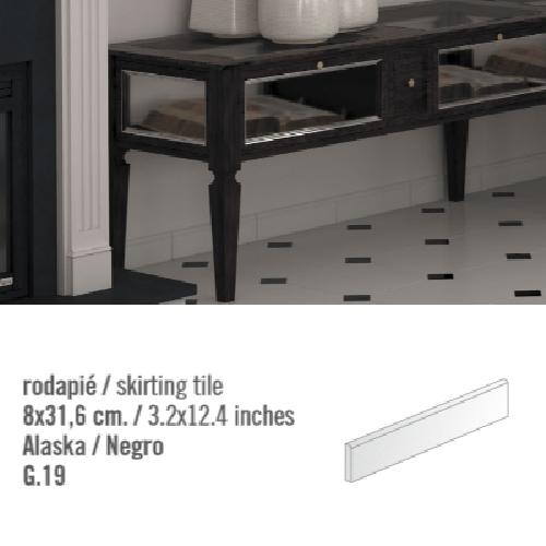 Plinthe intérieur Blanc Alaska 8x31.6 cm - 10.11mL - zoom