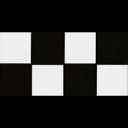 Frise carré noir et blanc 10x20 cm Composicion Lautrec - 1mL