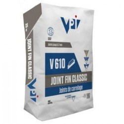 Joint fin classic pour carrelage V610 acier - 25 kg