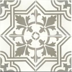 Carreau de ciment décoré gris 20x20 cm ref7420-1 -   - Echantillon Carreaux ciment véritables
