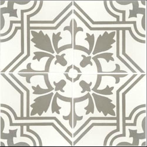 Carreau de ciment décoré gris 20x20 cm ref7420-1 -   - Echantillon - zoom