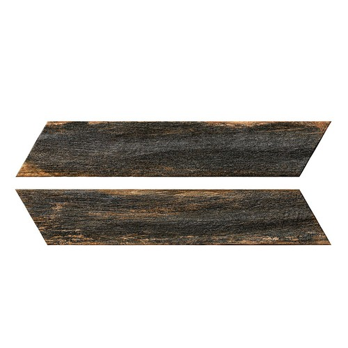Chevron imitation bois foncé 8x40 cm BORA CHV DARK espiga droite et gauche -   - Echantillon - zoom