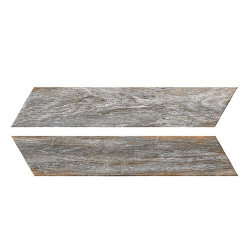 Chevron imitation bois gris 8x40 cm BORA CHV GREY espiga droite et gauche -   - Echantillon Oset
