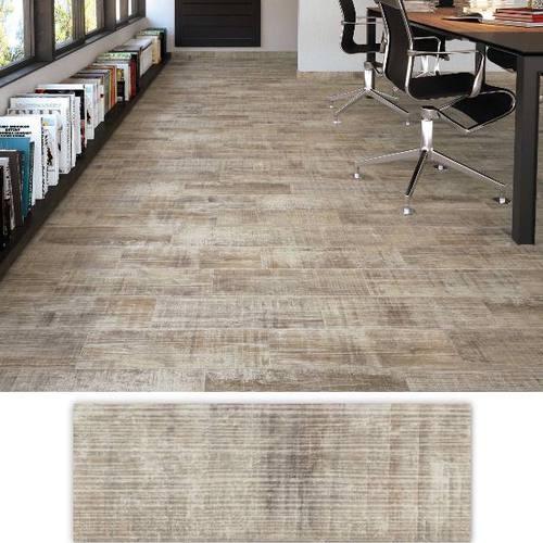 Carrelage usé blanchi style parquet ANTIC 17.50x50 cm -   - Echantillon - zoom