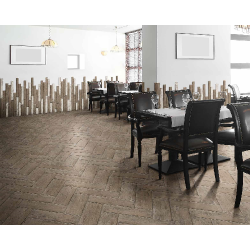 Carrelage RETRO imitation parquet vintage style chevron Point de Hongrie 21x60 cm -   - Echantillon Natucer
