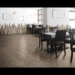 Carrelage RETRO imitation parquet vintage style chevron point de Hongrie 7x60 cm -   - Echantillon Natucer