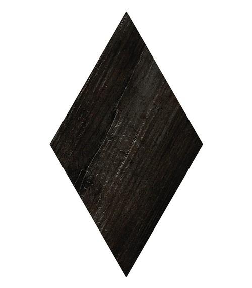 Carrelage losange imitation bois rect. 22x38cm ADAMANT OKINAWA CARBON -   - Echantillon - zoom