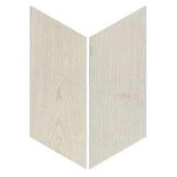 Chevron imitation bois sol ou mur 9x2 cm HEXAWOOD GREY -   - Echantillon Equipe