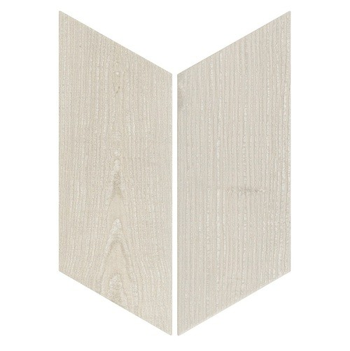 Chevron imitation bois sol ou mur 9x2 cm HEXAWOOD GREY -   - Echantillon - zoom