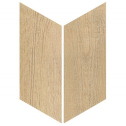 Chevron imitation bois sol ou mur 9x2 cm HEXAWOOD NATURAL -   - Echantillon Equipe