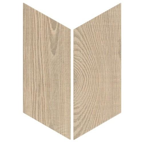 Chevron imitation bois sol ou mur 9x2 cm HEXAWOOD TAN -   - Echantillon Equipe