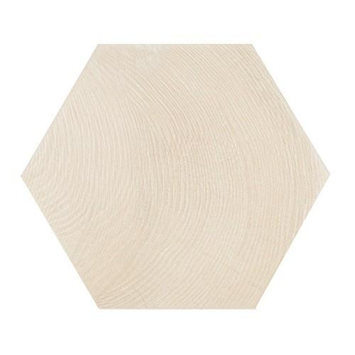 Carrelage aspect bois 17,5x20cm Tomette HEXAWOOD WHITE 21626 -    - Echantillon - zoom