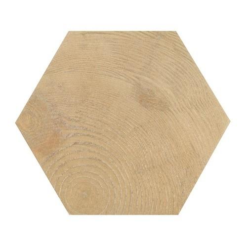 Carrelage aspect bois 17,5x20cm Tomette HEXAWOOD NATURAL 21629 -    - Echantillon - zoom