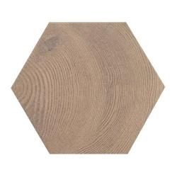 Carrelage aspect bois 17,5x20cm Tomette HEXAWOOD OLD 21630 -    - Echantillon Equipe