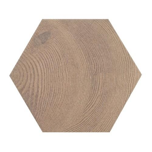 Carrelage aspect bois 17,5x20cm Tomette HEXAWOOD OLD 21630 -    - Echantillon - zoom