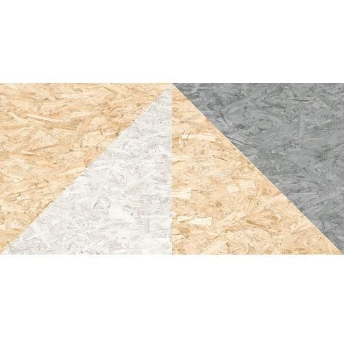 Carrelage rectifié imitation OSB bois aggloméré TELEGU-R Natural Multicolor 59.3X119.3 cm -  - Echantillon - zoom