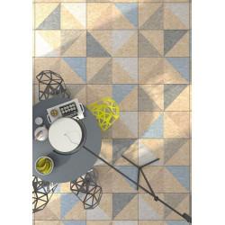 Carrelage rectifié imitation OSB bois aggloméré TELEGU-R Natural Multicolor 59.3X119.3 cm -  - Echantillon Vives Azulejos y Gres