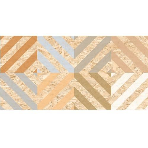 Carrelage rectifié imitation OSB bois aggloméré CORNISH-R Natural Multicolor 59.3X119.3 cm -  - Echantillon - zoom