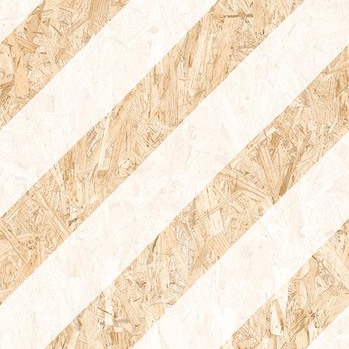 Carrelage imitation bois aggloméré NENETS BLANC 59.3X59.3 cm -   - Echantillon - zoom