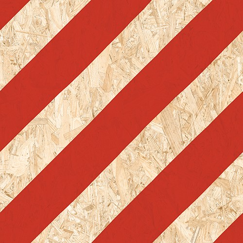 Carrelage imitation bois aggloméré NENETS Rouge 59.3X59.3 cm -   - Echantillon Vives Azulejos y Gres