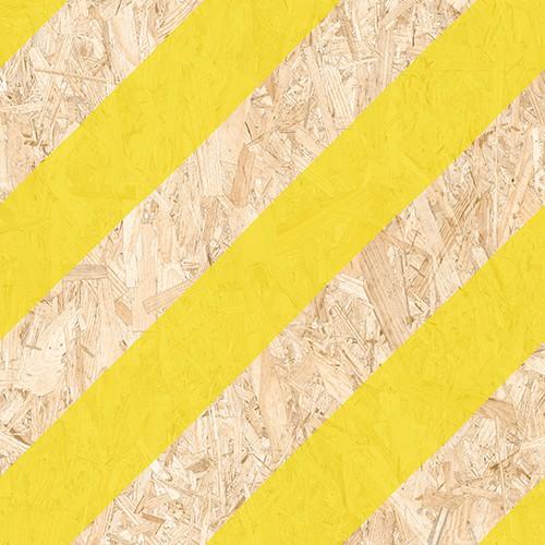 Carrelage imitation bois aggloméré NENETS jaune 59.3X59.3 cm -   - Echantillon - zoom