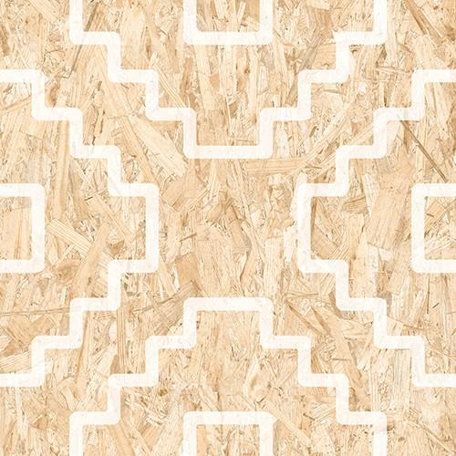 Carrelage imitation bois aggloméré SERIAKI-R BLANC 59.3X59.3 cm -   - Echantillon - zoom