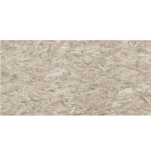 Carrelage rectifié imitation OSB bois aggloméré STRAND-R Cemento 59.3X119.3 cm -  - Echantillon - zoom