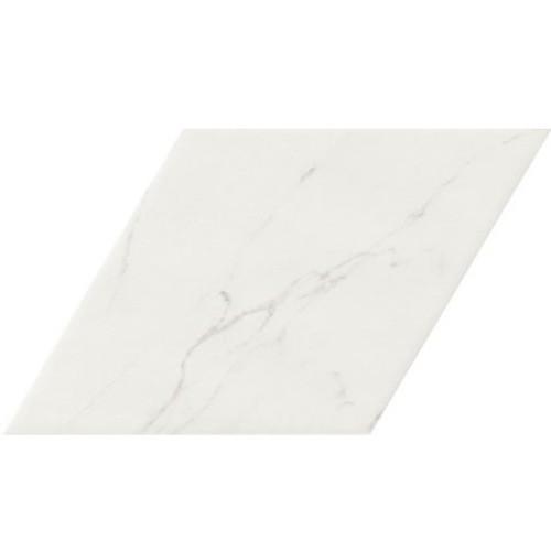 Carrelage losange blanc marbré calacatta 70x40 DIAMOND STATUARIO -   - Echantillon - zoom