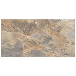 Carrelage effet pierre beige marron nuancé ARDESIA OCRE 32x62.5 cm -   - Echantillon GayaFores