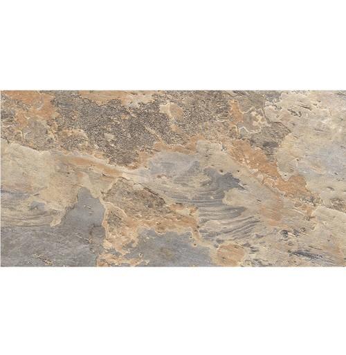 Carrelage effet pierre beige marron nuancé ARDESIA OCRE 32x62.5 cm -   - Echantillon - zoom