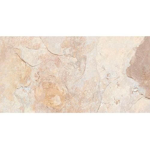 Carrelage effet pierre beige nuancé ARDESIA ALMOND 32x62.5 cm -   - Echantillon - zoom