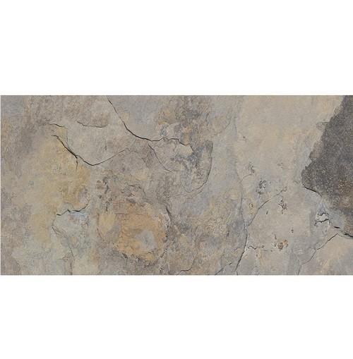 Carrelage effet pierre gris nuancé ARDESIA GRIS 32x62.5 cm -   - Echantillon - zoom