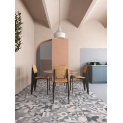 Carrelage style ciment terrazzo FUSION GREY 33x33 cm -  - Echantillon GayaFores