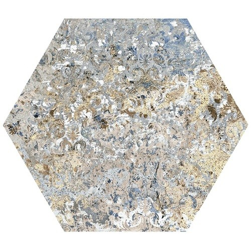 Carrelage tomette décors vieillis CARPET VESTIGE NATURAL HEXAGON 25x29 cm -   - Echantillon Aparici