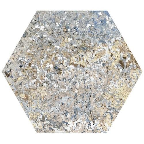 Carrelage tomette décors vieillis CARPET VESTIGE NATURAL HEXAGON 25x29 cm -   - Echantillon - zoom