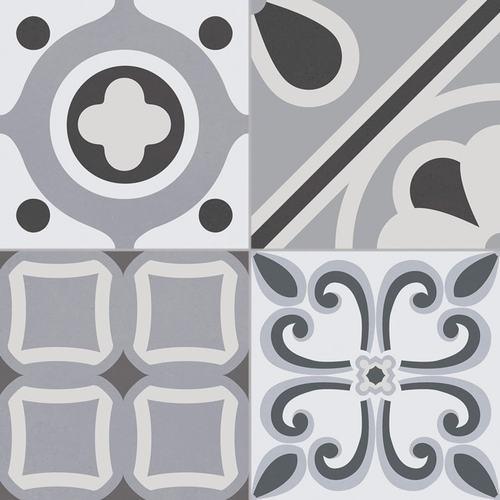 Carrelage style ciment grisé LUMIER BLACK 33x33 cm -  - Echantillon - zoom