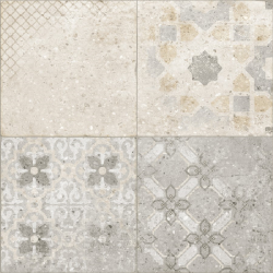 Carrelage imitation ciment léger taupe 60x60 cm SAVONA -   - Echantillon Arcana