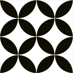 Carrelage style ancien ciment LOUVRE BLACK 20x20 cm -   - Echantillon Oset