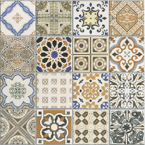 Carrelage sol ou mur style ancien PROVENZA 44x44 cm -   - Echantillon - zoom