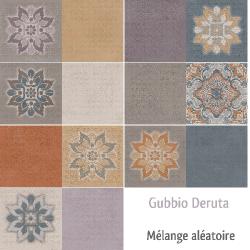 Faience style Ciment et Patiné GUBBIO DERUTA 20x40 cm -   - Echantillon Arcana