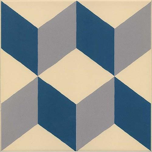 Carrelage imitation ciment cube 20x20 cm GUELL -   - Echantillon Vives Azulejos y Gres