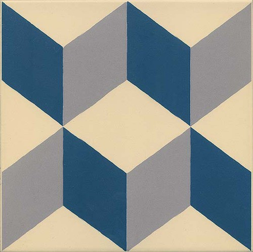 Carrelage imitation ciment cube 20x20 cm GUELL -   - Echantillon - zoom