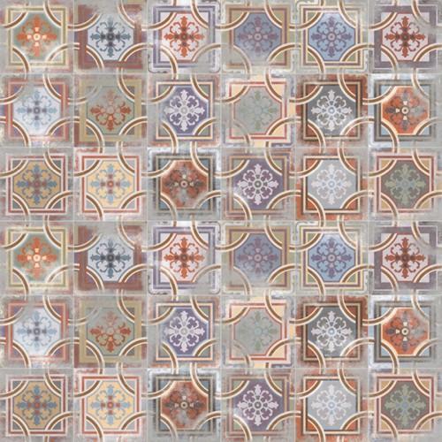 Carrelage imitation ciment 20x20 cm Comillas -   - Echantillon - zoom