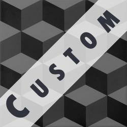 Carreau imitation ciment personnalisable 20x20 cm CUSTOM CUBE - Echantillon