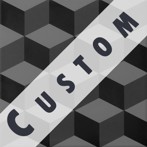 Carreau imitation ciment personnalisable 20x20 cm CUSTOM CUBE - Echantillon - zoom