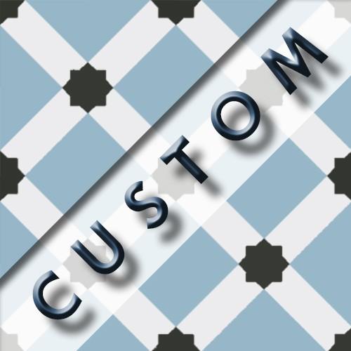 Carreau imitation ciment personnalisable 20x20 cm CUSTOM DAMA - Echantillon - zoom