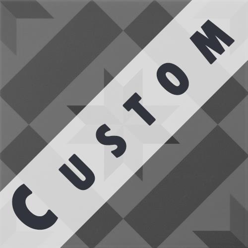 Carreau imitation ciment personnalisable 20x20 cm CUSTOM ÉTOILE -   - Echantillon - zoom