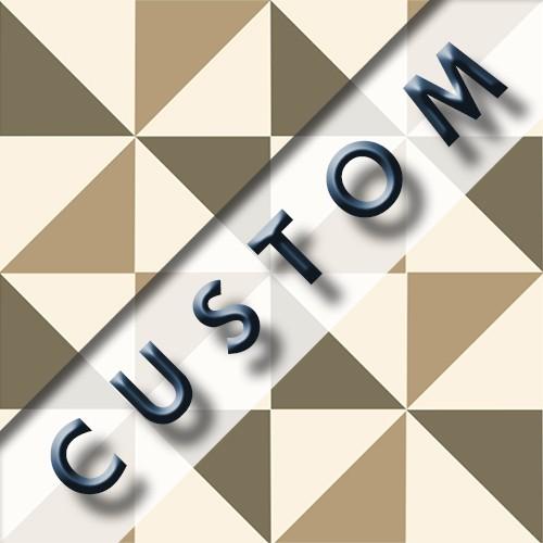 Carreau imitation ciment personnalisable 20x20 cm CUSTOM MOLINO - Echantillon - zoom