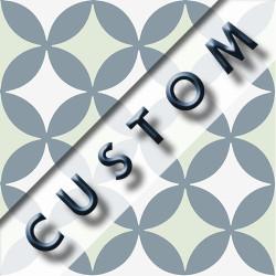 Carreau imitation ciment personnalisable 20x20 cm CUSTOM QUATRE FEUILLE - Echantillon
